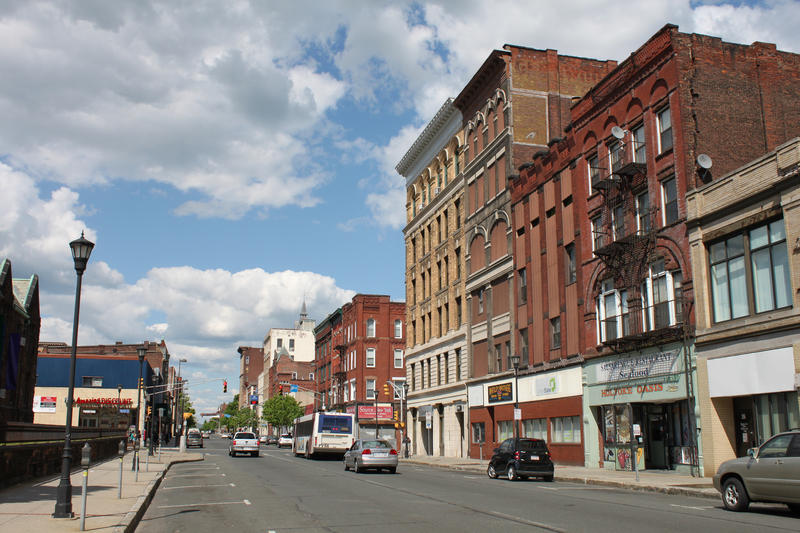 Downtown Holyoke, Massachusetts.