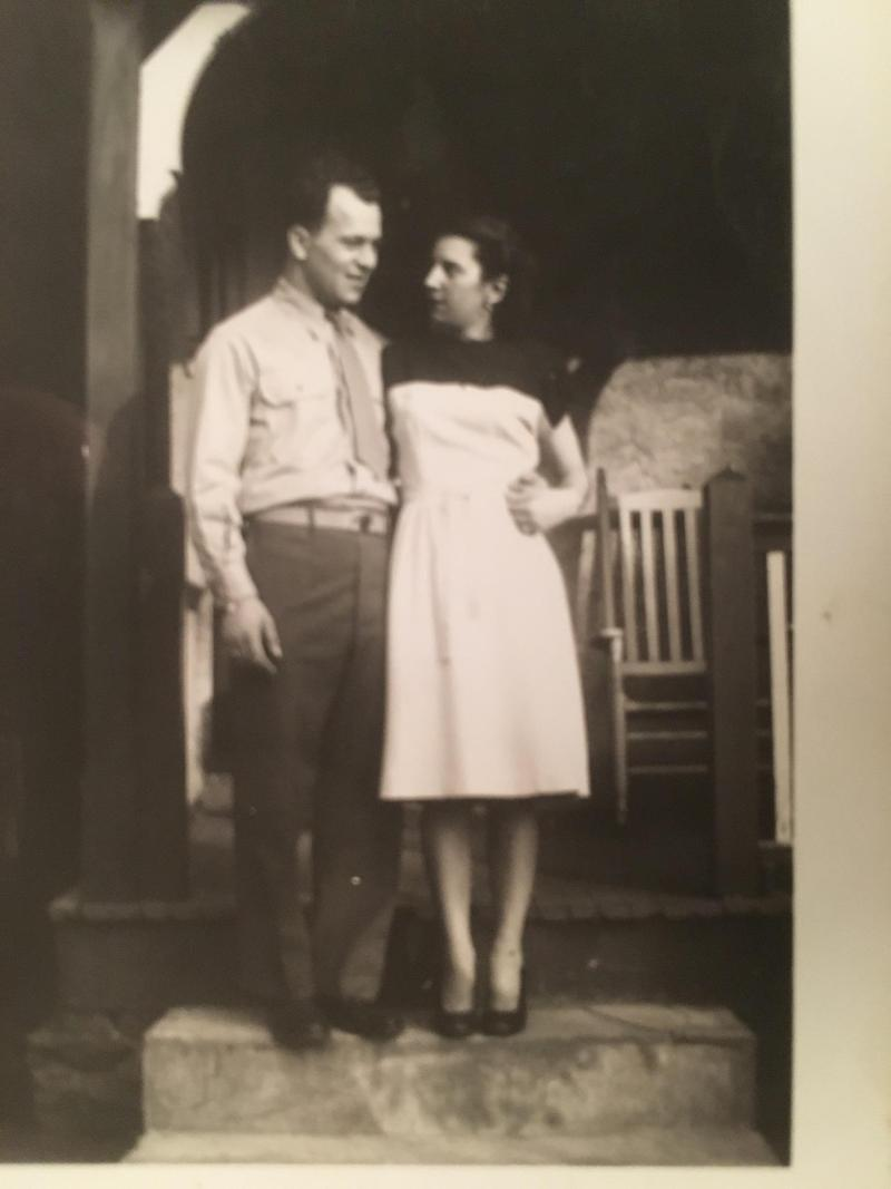 Yelda Rauenzahn with her husband in the 1940's.