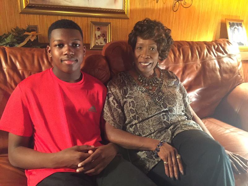 Kiam Rennix and his grandmother, Dr. Bobbie Rennix.
