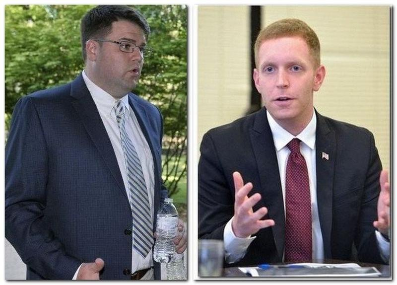 Former Holyoke City Councilor Jay Ferreira (left) and Mayor Alex Morse.