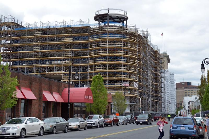 The MGM resort casino, under construction in Springfield.