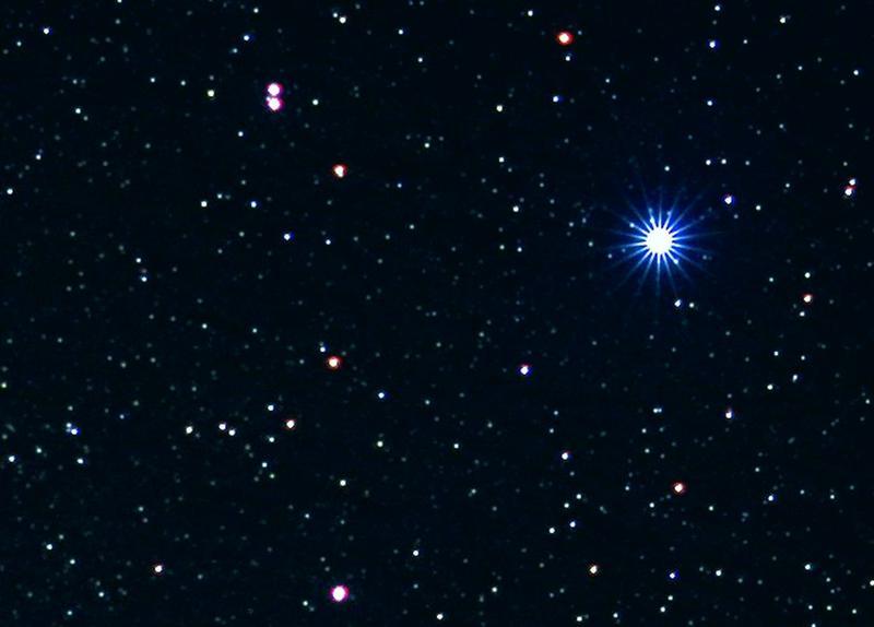 Vega,  the biggest star in the sky.