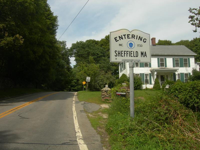 The Sheffield, Massachusetts town line.
