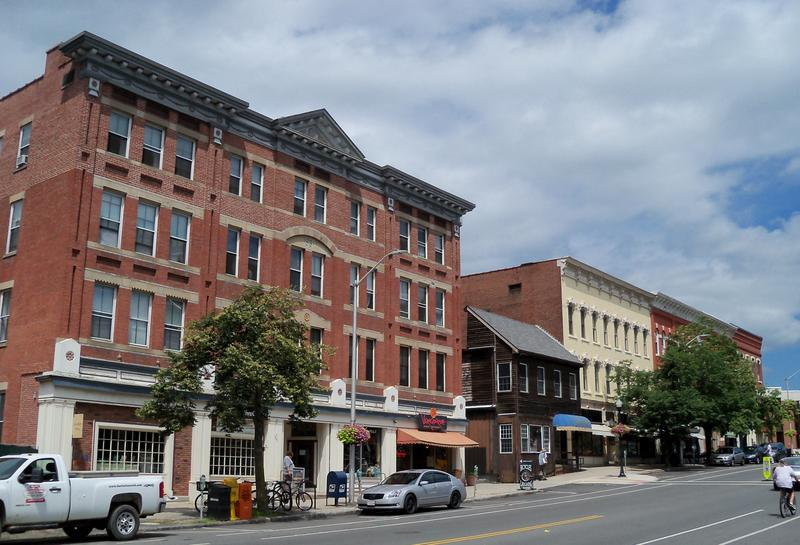 Downtown Amherst, Massachusetts, in a file photo.