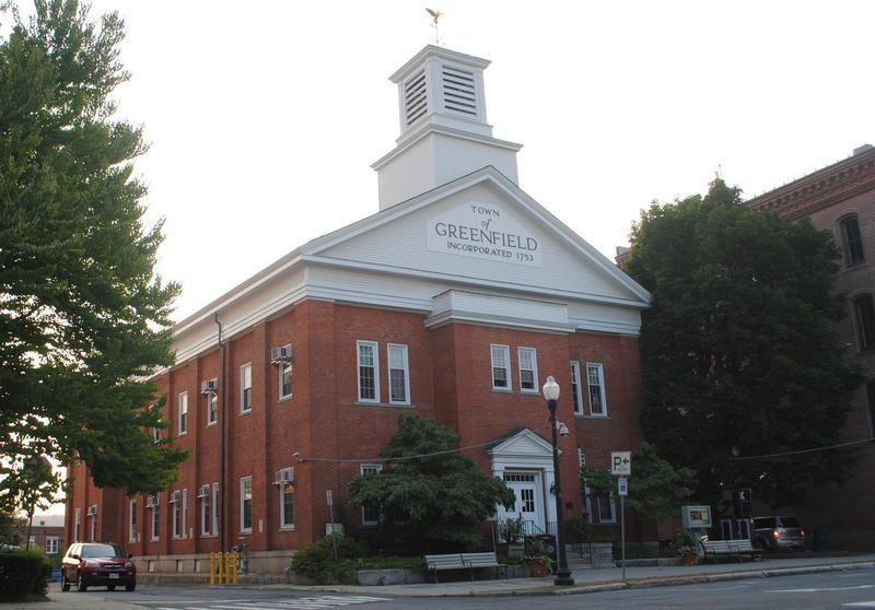 """Town Hall"" in Greenfield, Massachusetts."