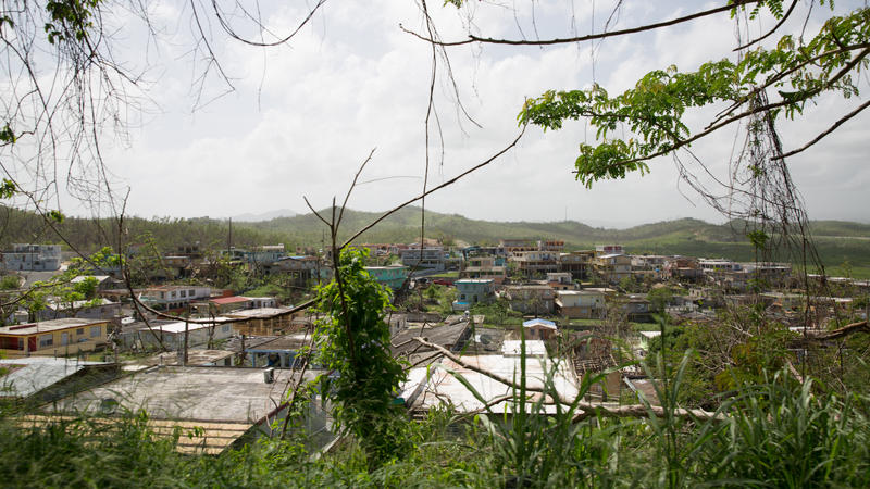 Houses in Humacao, Puerto Rico -- the part of the island where Hurricane Maria first made landfall.