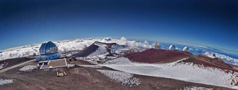 Telescopes at the Mauna Kea observatories in Hawaii.