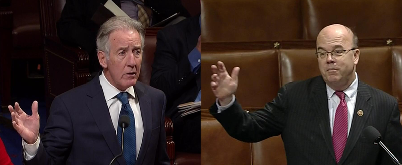 Rep. Richard Neal, left, and Rep. Jim McGovern in file photos.