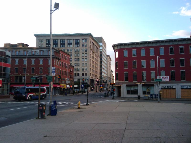 A view of downtown Worcester, Massachusetts, in 2010.