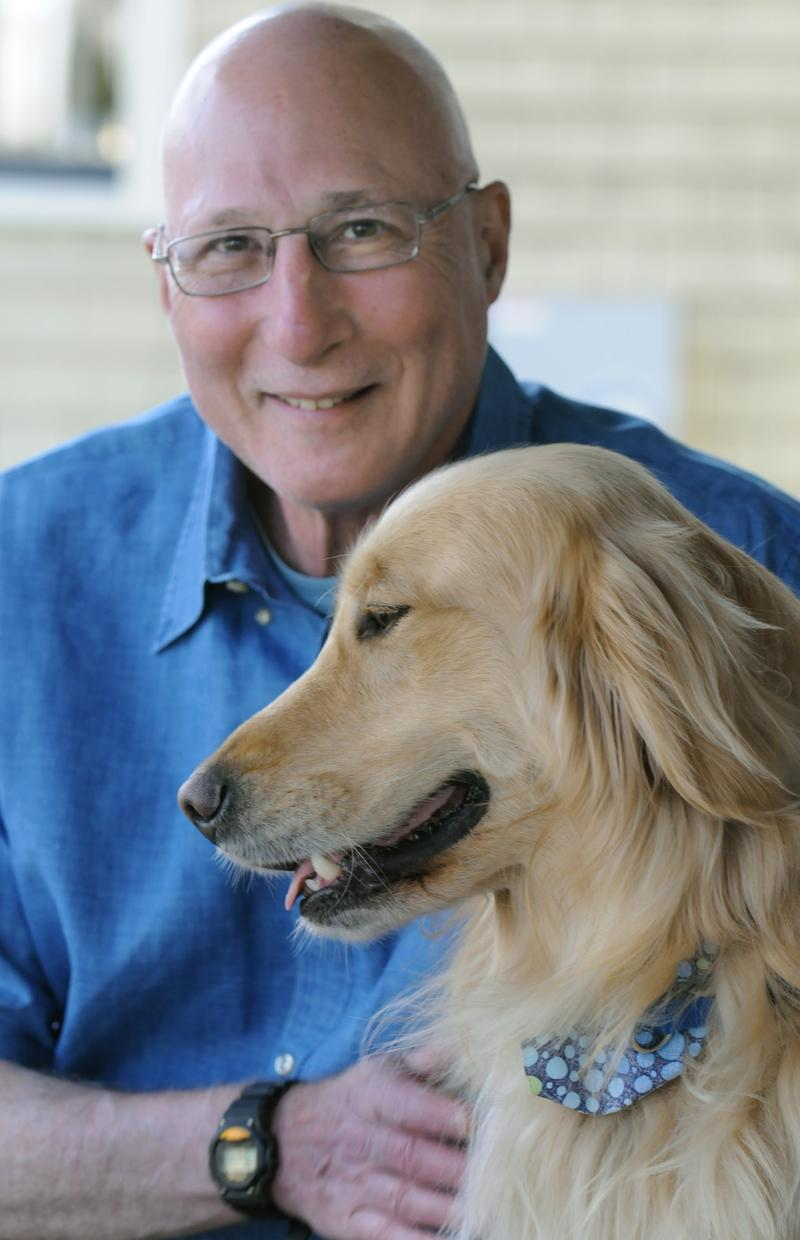 Robert Chipkin with his dog, Theo.