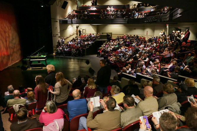 The audience for Jim Brickman's Pure Piano Concert at CityStage, in March 2017.