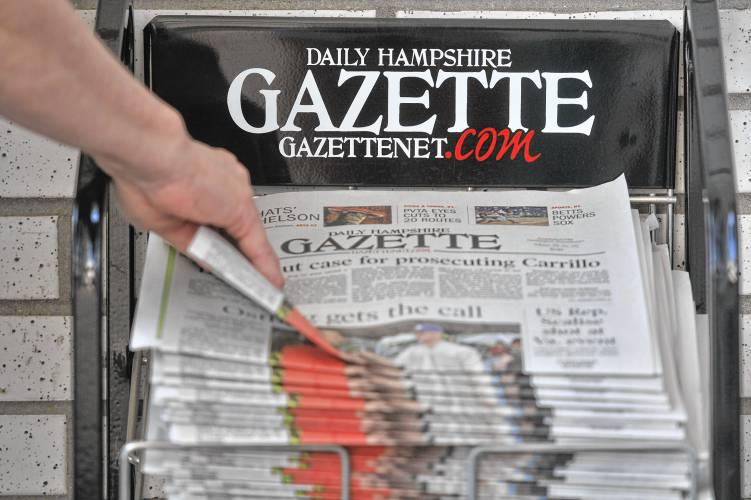 The Daily Hampshire Gazette is based in Northampton, Mass.