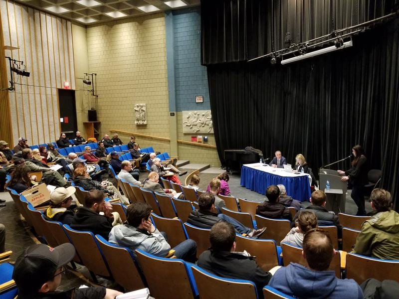 Public comment underway on draft marijuana laws for Massachusetts. The first session held by the Cannabis Control Commission took place at Berkshire Community College in Pittsfield, Massachusetts, on Monday, February 5, 2018.