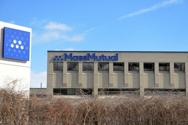 MassMutual's offices in Enfield, Connecticut, which will close as part of an expansion in Massachusetts.