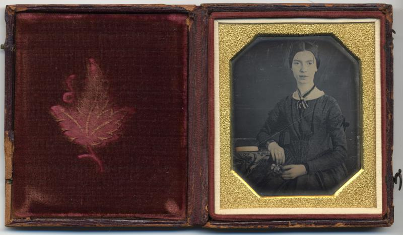 Daguerreotype of the poet Emily Dickinson, taken in 1847,