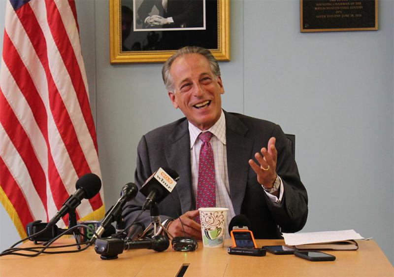 Steve Hoffman, chair of the Massachusetts Cannabis Control Commission, in a file photo.