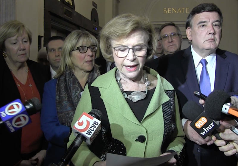 Acting Massachusetts Senate President Harriette Chandler says her Democratic colleagues chose to keep her in charge of the chamber until year's end. An election for her successor will be held Jan. 2, 2019.