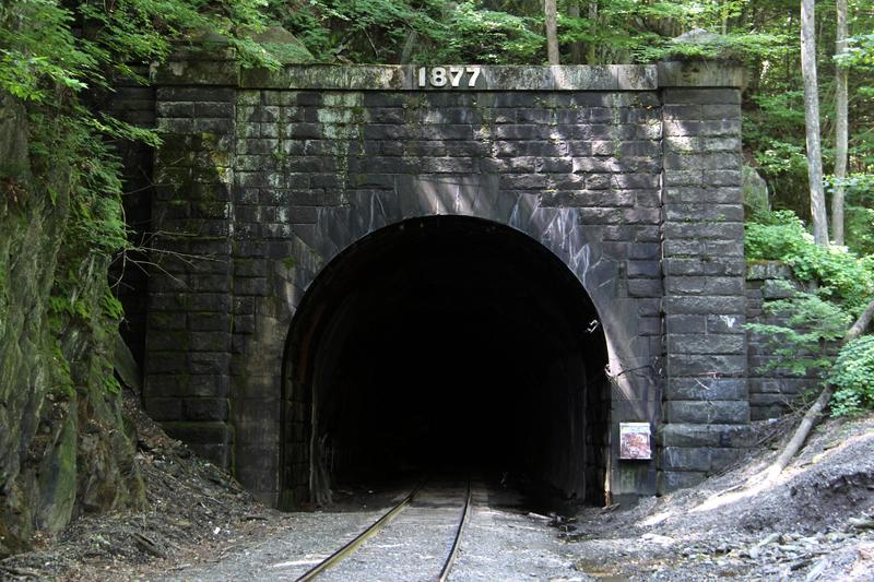 East portal to the Hoosac Tunnel in Berkshire County, Massachusetts.