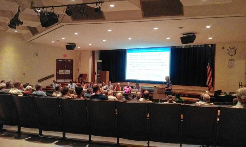 An Amherst, Massachusetts, Charter Commission public hearing in 2016.