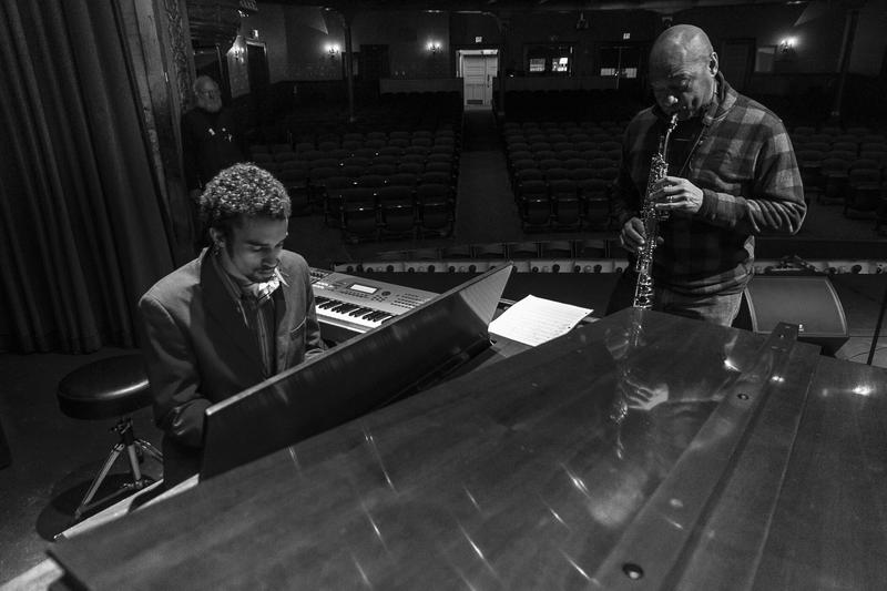 Khalif Neville rehearses the song