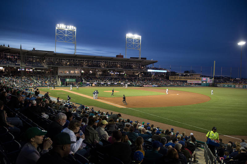 Dunkin' Donuts Park on opening day, April 13, 2017.
