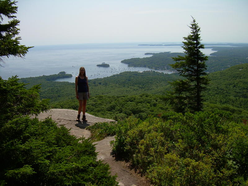 Susan Johnson in Camden,  Maine on top of Mt. Megunticook.