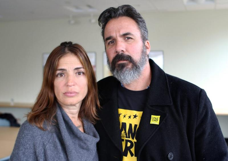 Patricia and Manuel Oliver lost their son, Joaquin, in the Parkland school shooting. Now Manuel is touring the country installing murals calling for more gun control.