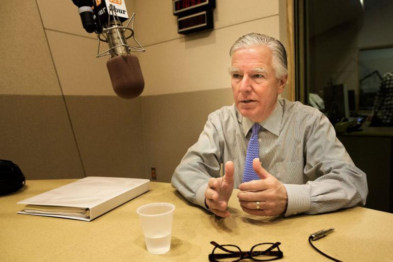 UMass President Marty Meehan, in a file photo, at WBUR.