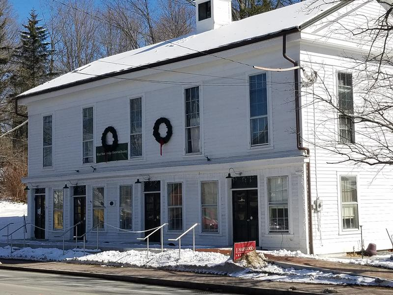 The old town hall in West Stockbridge, Massachusetts.