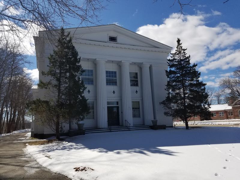The old town hall in Stockbridge, Massachusetts.