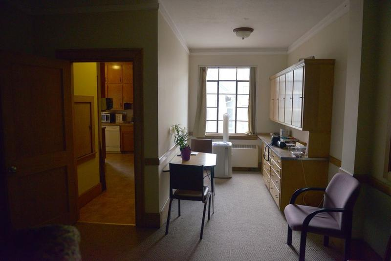 The apartment in South Congregational Church in Springfield, Massachusetts, where Gisella Collazo is staying in with her two children.