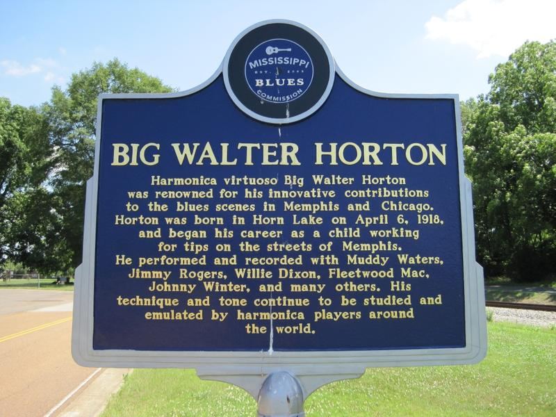 Big Walter Horton Blues Trail Marker, Horn Lake, Mississippi