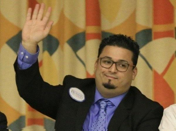 Holyoke City Councilor Nelson Roman, who is pushing to lower the voting age in his city to sixteen in municipal elections.