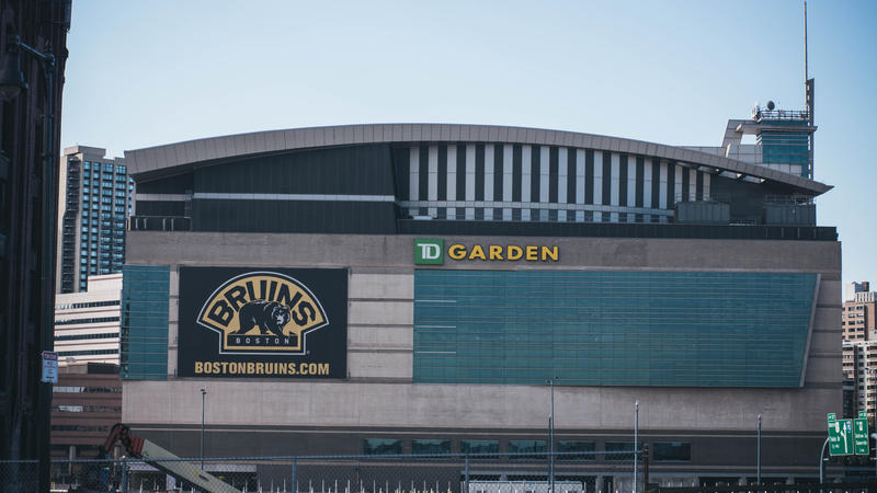 The TD Garden in Boston, home to the Boston Bruins and Boston Celtics.