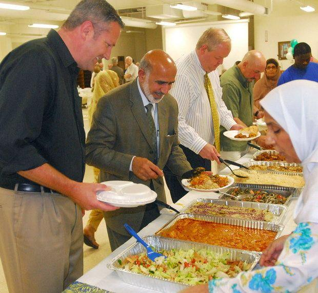 An interfaith iftar, a breaking of the daily fast during Ramadan.