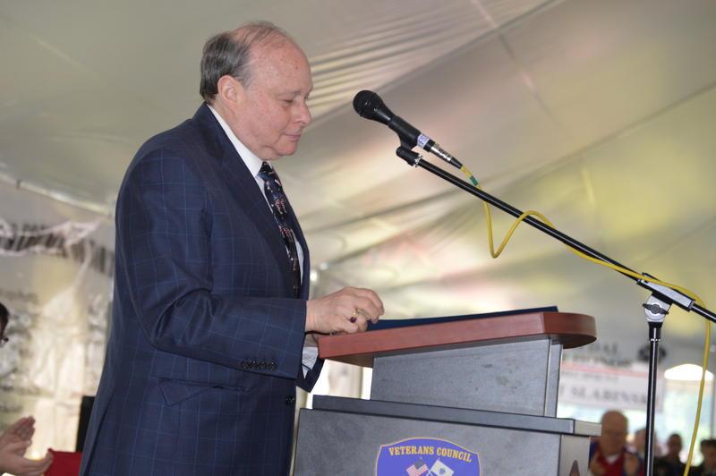 Former Massachusetts Senate President Stan Rosenberg made a public address at the Florence Memorial Day Parade.