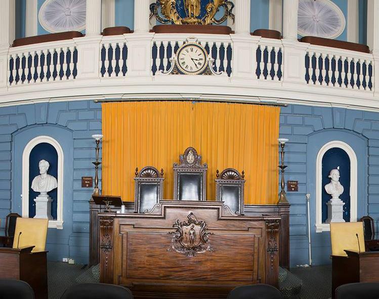 The Massachusetts State Senate.