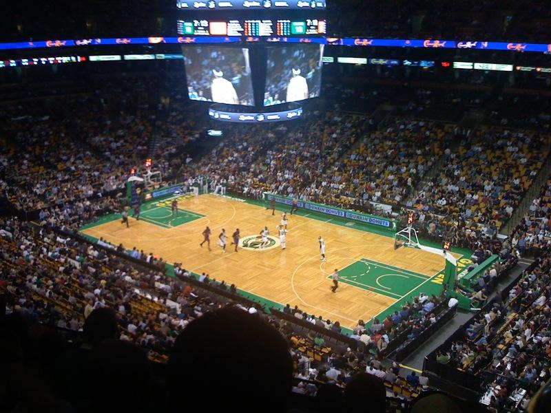 A 2007 photograph of the Celtics, playing in Boston.