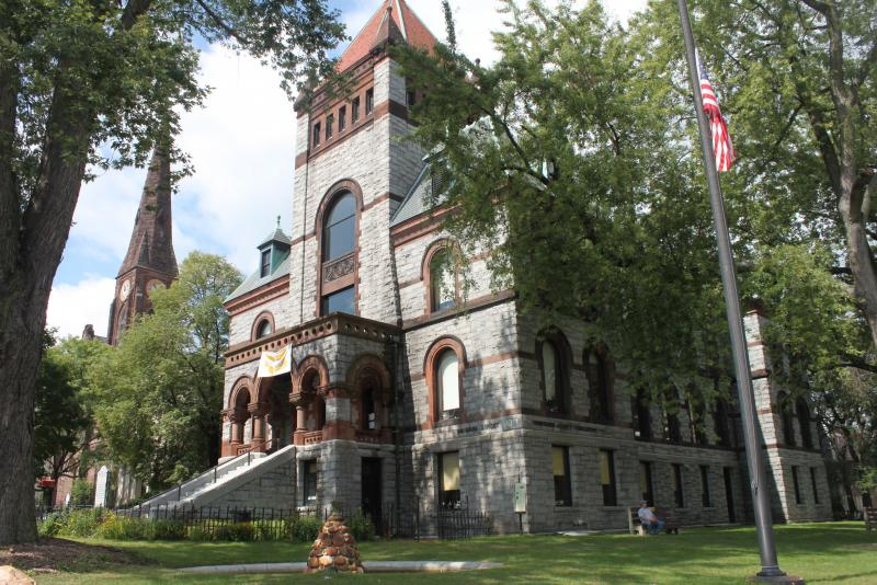 The Hampshire County Courthouse in Northampton, Mass. It is the headquarters for the Hampshire Council of Governments.