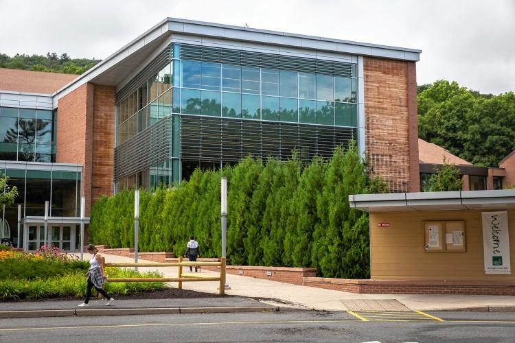 The Greenfield Community College main campus building.