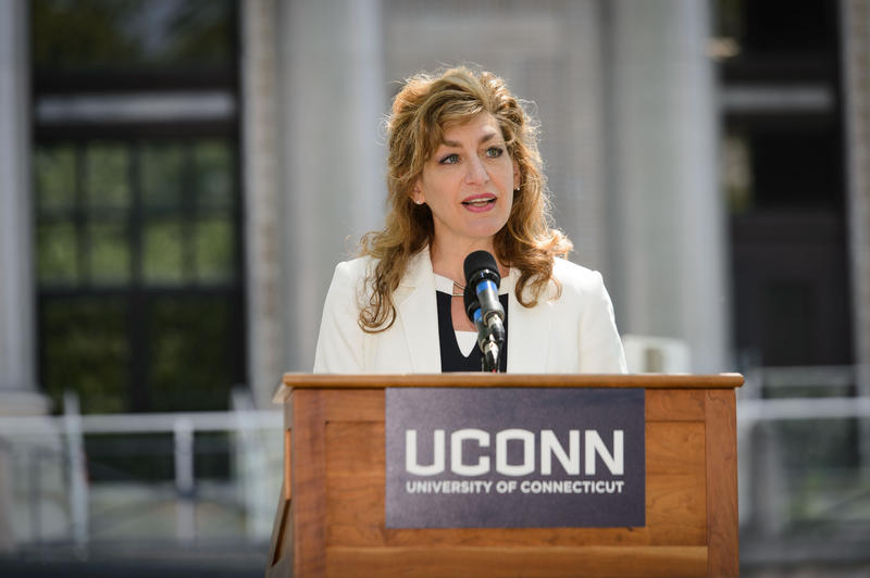 UConn President Susan Herbst will step down in summer 2019, after eight years as president of the University of Connecticut.