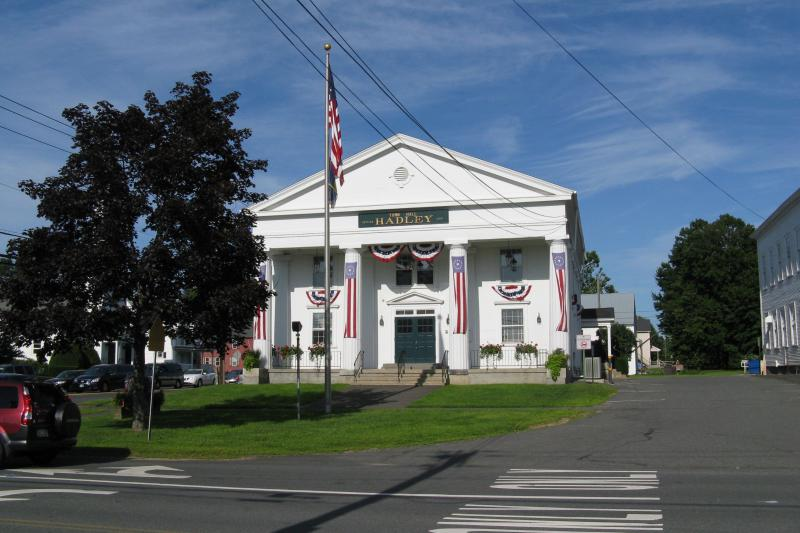 The town hall in Hadley, Massachusetts.
