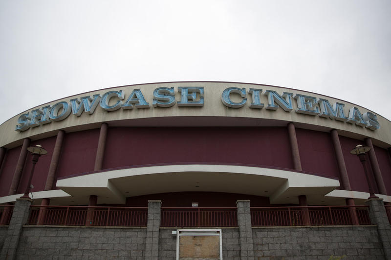 The casino is planned for the site of the old Showcase Cinemas off I-91 in East Windsor, Connecticut, seen in a file photo before demolition work began.