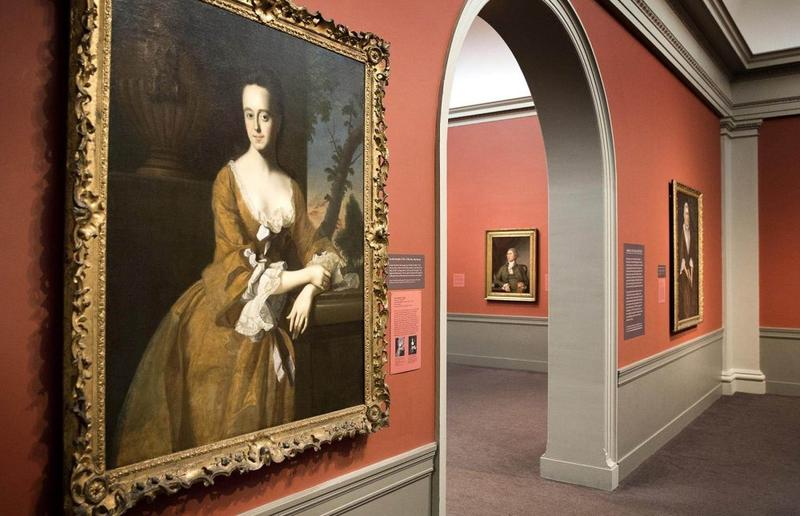 Next to the picture of Lucretia Chandler at the Worcester Art Museum, a new sign informs visitors that her father