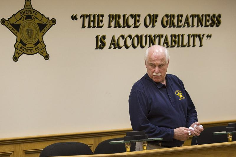 Bristol County Sheriff Thomas Hodgson during a training class conducted at Bristol County Jail and House of Correction in North Dartmouth, Massachusetts, in December 2017.