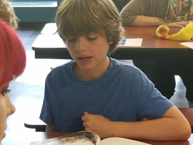 Fourth-grader Kyle Ribando chose to study Joseph Cinqué, whose birth name was Singbe-Pieh, for his Connecticut history project. Cinqué's name was only recently added to the list of approved people students can research.