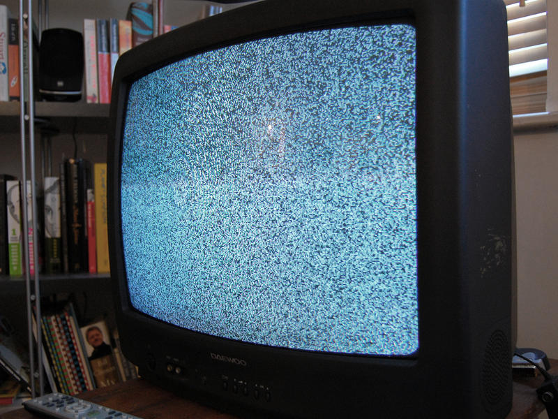 Television set with static.