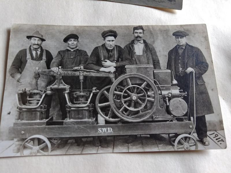 Early 20th century water and sewer equipment and workers in Springfield, Massachusetts.