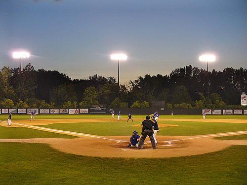 The Waconah Park baseball field in Pittsfield, Massachusetts.