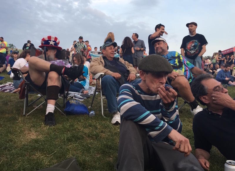 Revelers at a Dead & Company show in Hartford, Connecticut, in June 2018.